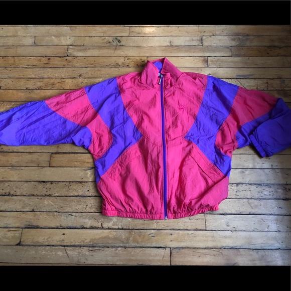 466c2db2cb Jackets   Blazers - Vintage 80s Nike Windbreaker Hot Pink (Sz ...